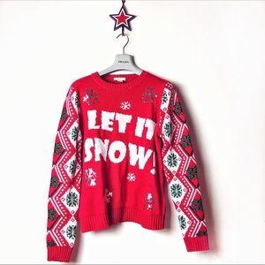 Ugly sweater H&M let it snow size L